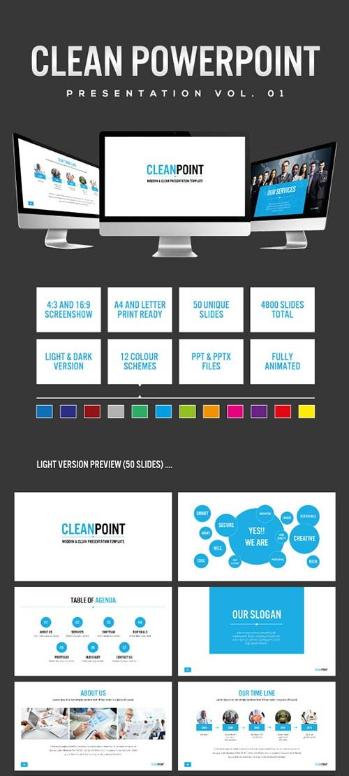 powerpoint templates - graphicriver ever - multipurpose, Presentation templates