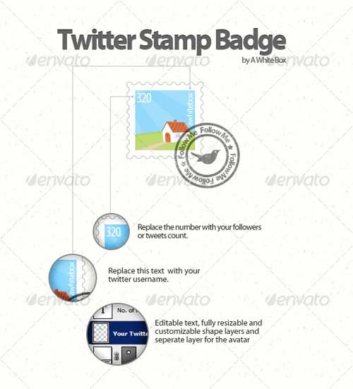 GraphicRiver Twitter Stamp Badge