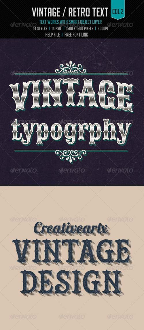 GraphicRiver Vintage/Retro Text Col2