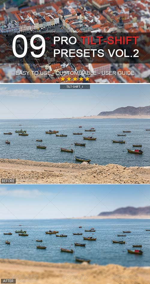 GraphicRiver 9 Pro Tilt-Shift Presets