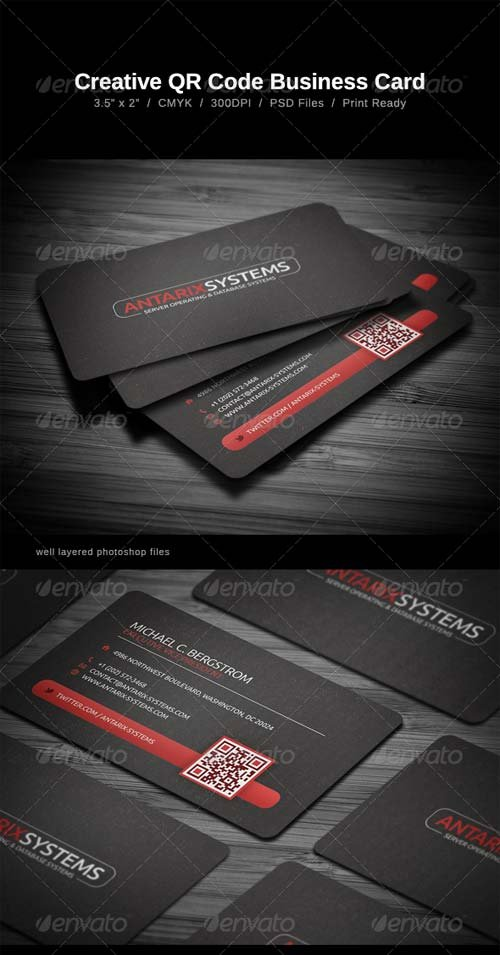 GraphicRiver Creative QR Code Business Card