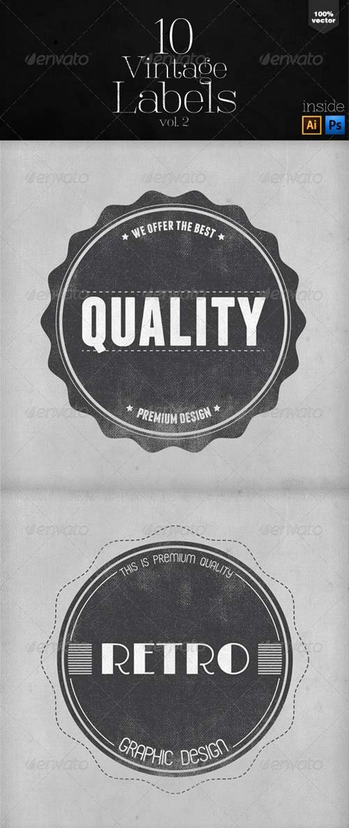 GraphicRiver Vintage Labels and Badges Vol.2