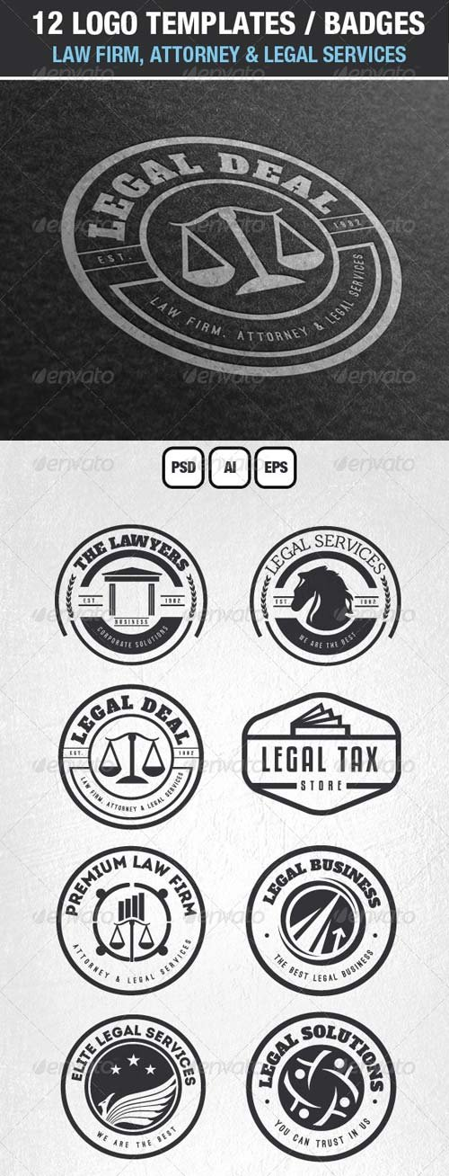 GraphicRiver 12 Logos & Badges Law Firm & Legal Services
