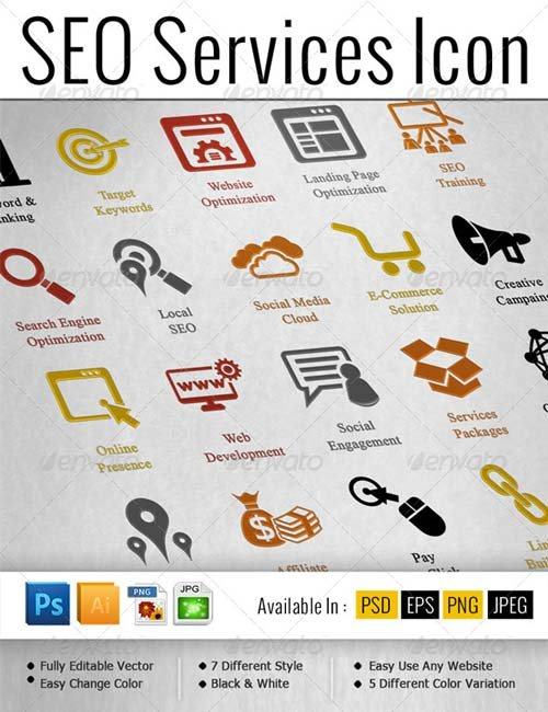 GraphicRiver SEO Services Icons Pack