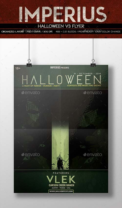GraphicRiver Halloween V3 Flyer
