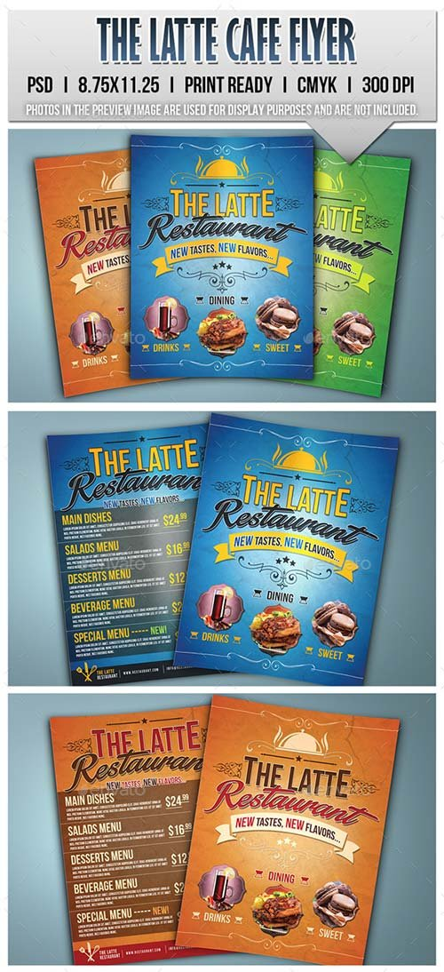 GraphicRiver The Latte Cafe Flyer