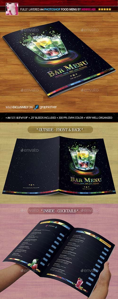 GraphicRiver Bar Menu 8843763