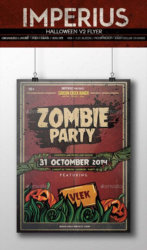 GraphicRiver Halloween V2 Flyer