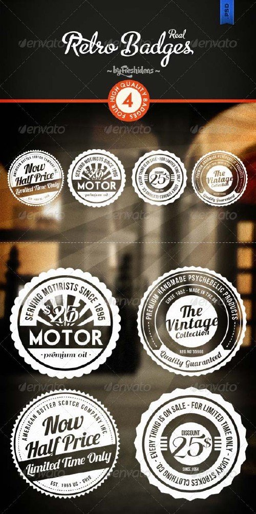 GraphicRiver Retro Badges - Insignias