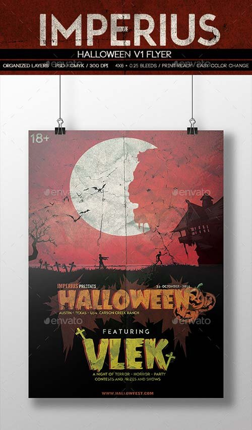 GraphicRiver Halloween V1 Flyer