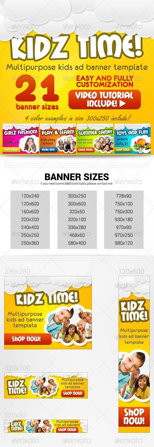 GraphicRiver Kids Banners Set