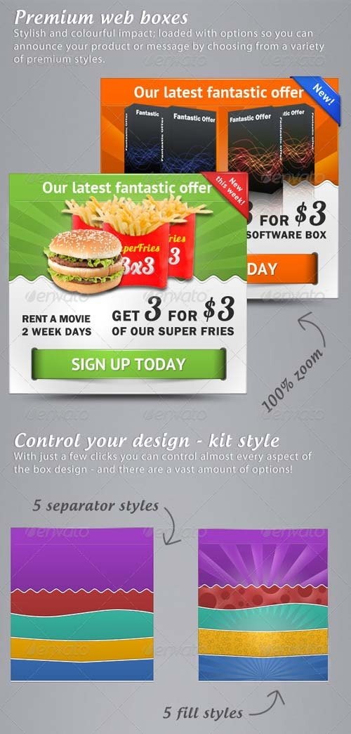 GraphicRiver Premium web boxes