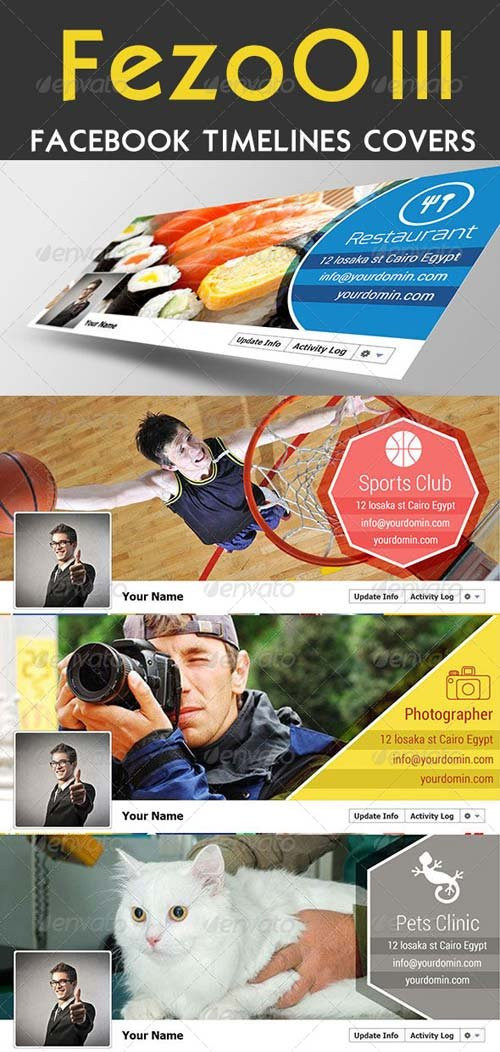 GraphicRiver FesoO III Facebook Timeline Covers