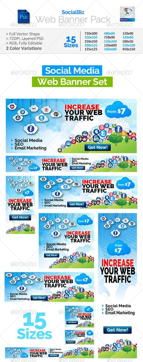 GraphicRiver SocialBiz Social Media Web Banners Pack
