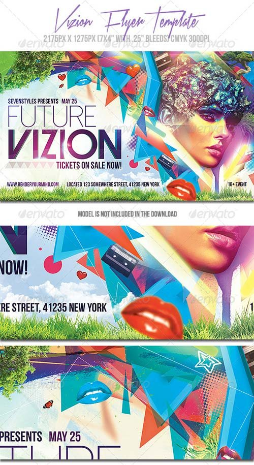 GraphicRiver Vizion Flyer Template