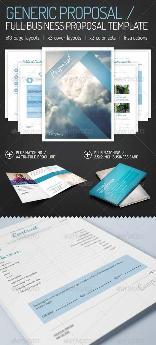 GraphicRiver Socialika Social Media Business Proposal · GraphicRiver Generic  Proposal   Full Business Proposal Template