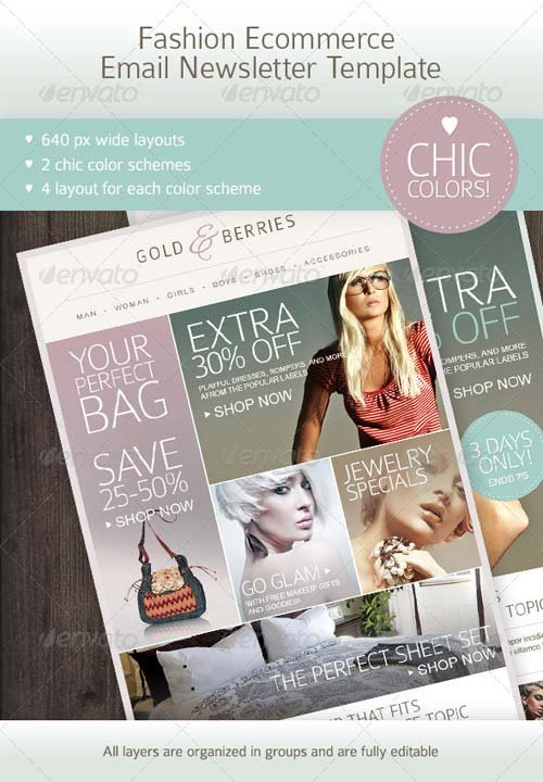 GraphicRiver Fashion Ecommerce Email Newsletter Template