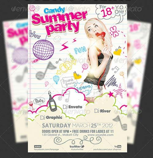GraphicRiver Candy Summer Party Flyer