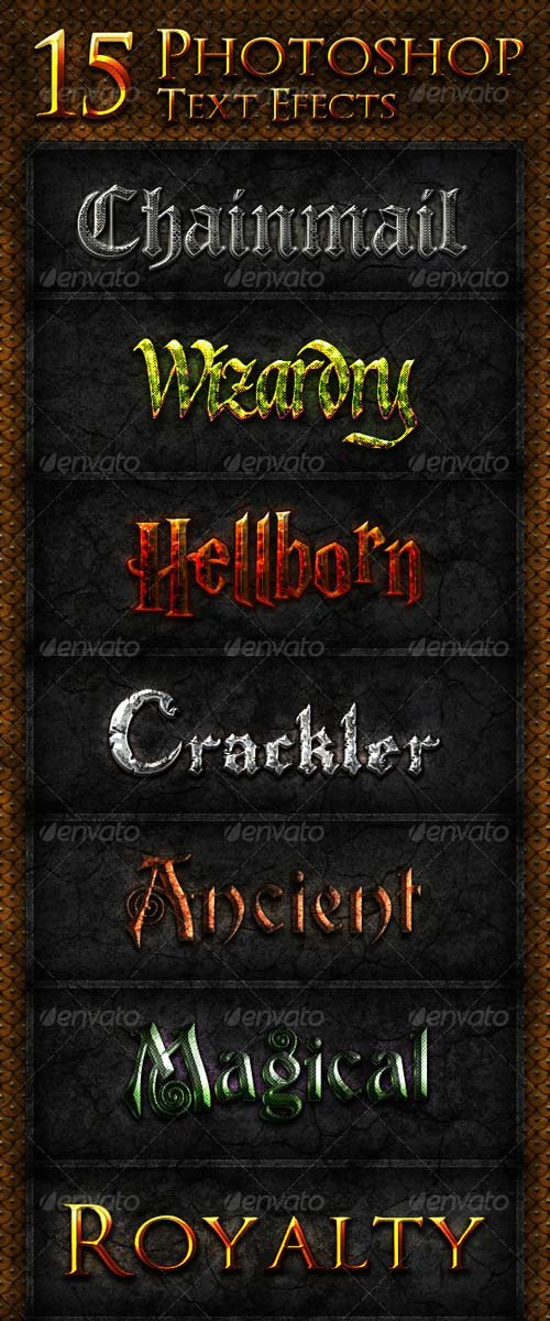 GraphicRiver 15 Photoshop Text Effects