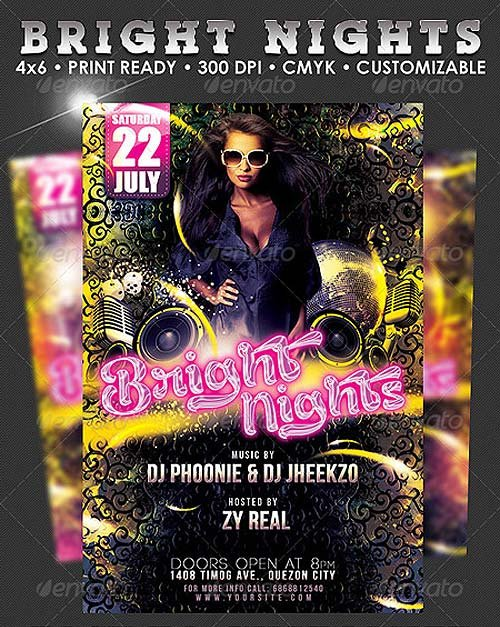 GraphicRiver Bright Nights Flyer Template