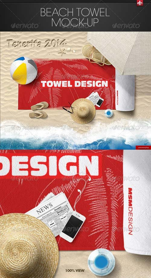 GraphicRiver Beach Towel Mock-up