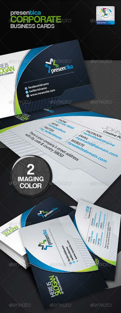 GraphicRiver Presentica Corporate Business Card