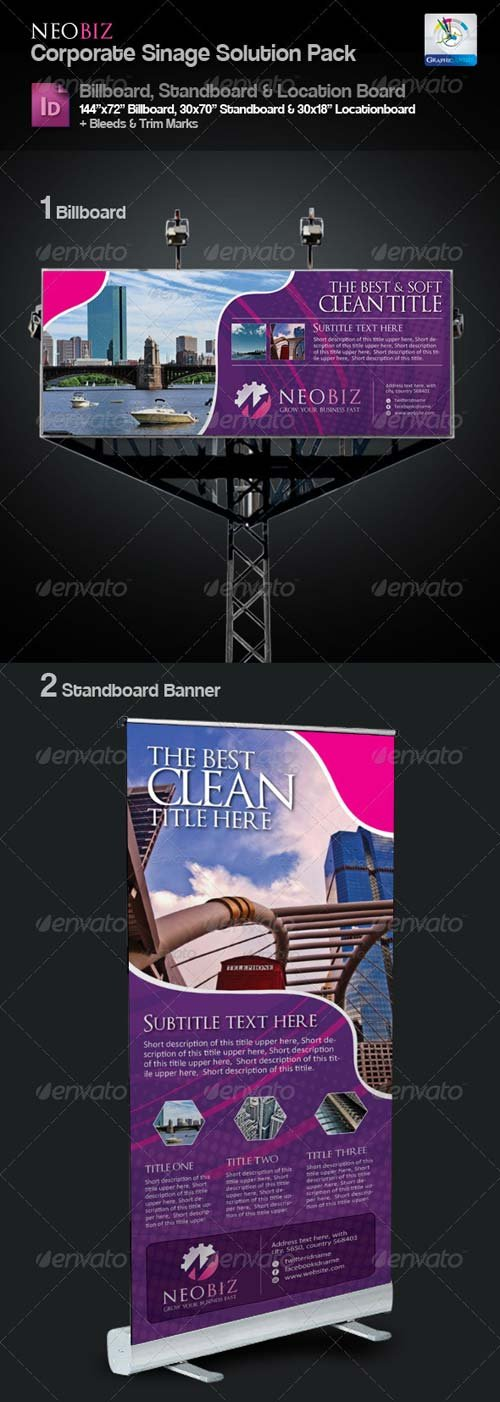 GraphicRiver NeoBiz Clean Sinage Solution Pack