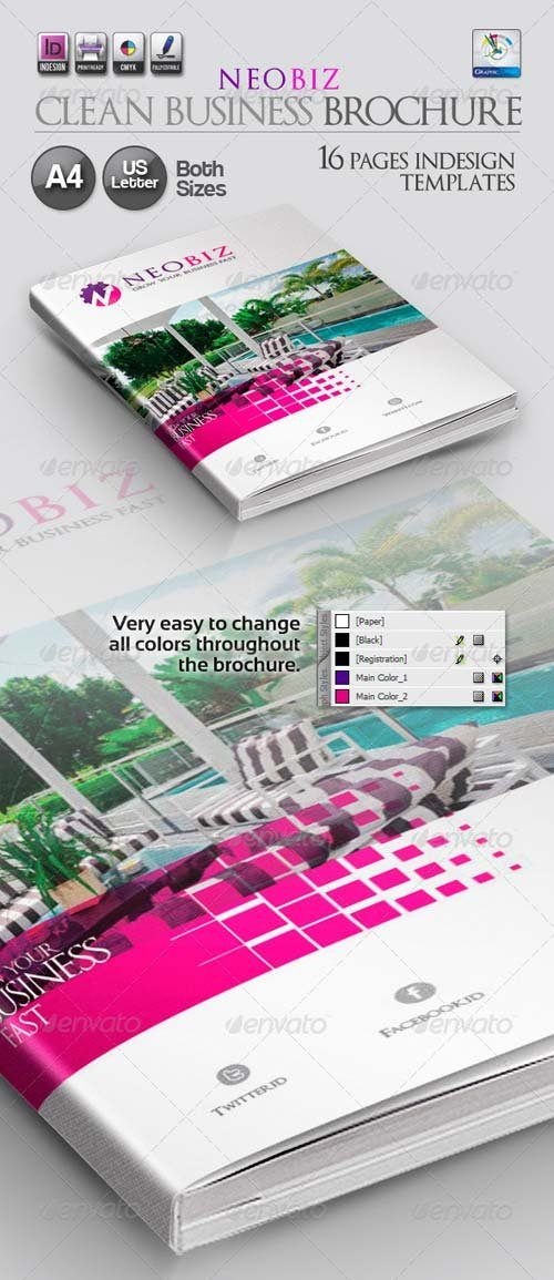 GraphicRiver NeoBiz Clean Business Brochure