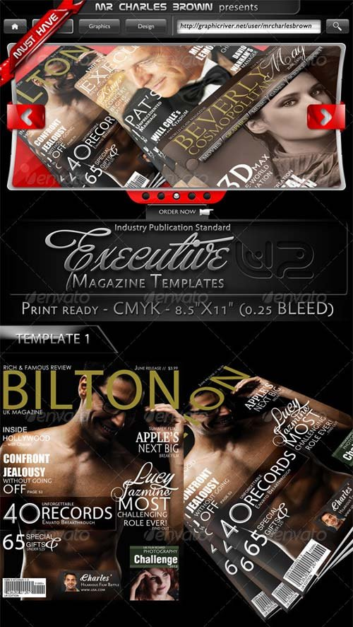 GraphicRiver 4 Executive Magazine Templates V2