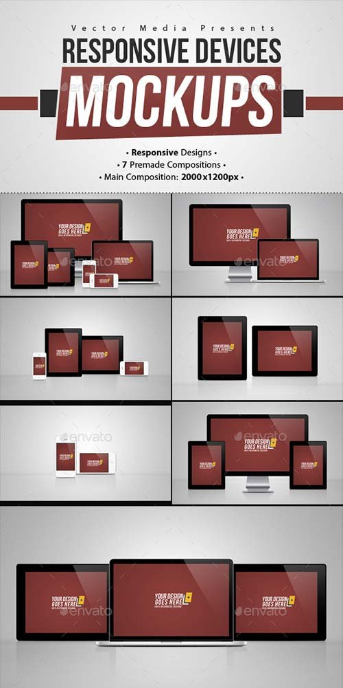 GraphicRiver Responsive Devices - Mock-ups