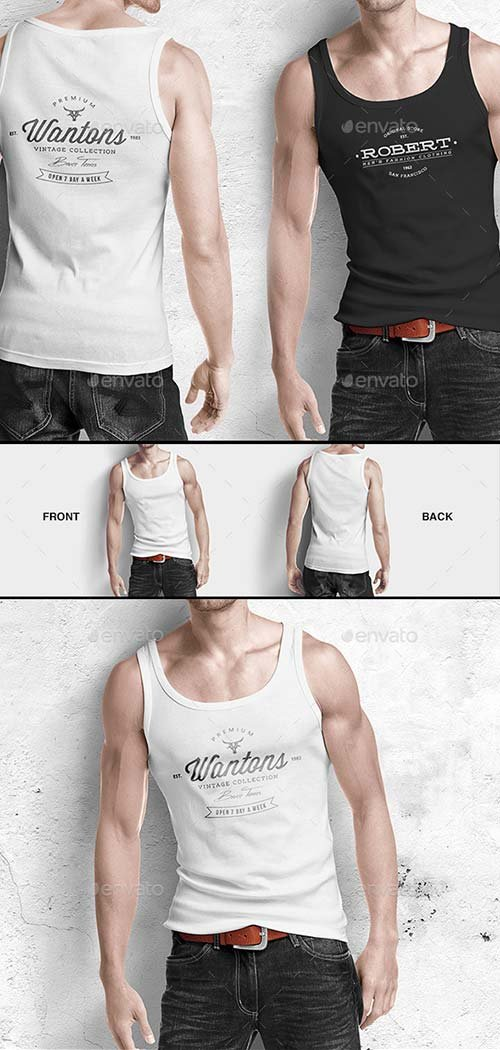 GraphicRiver Man Tank Shirt Mock-up