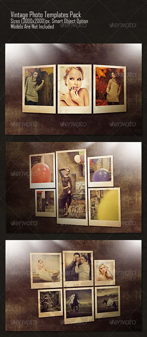 GraphicRiver Vintage Photo Templates Pack