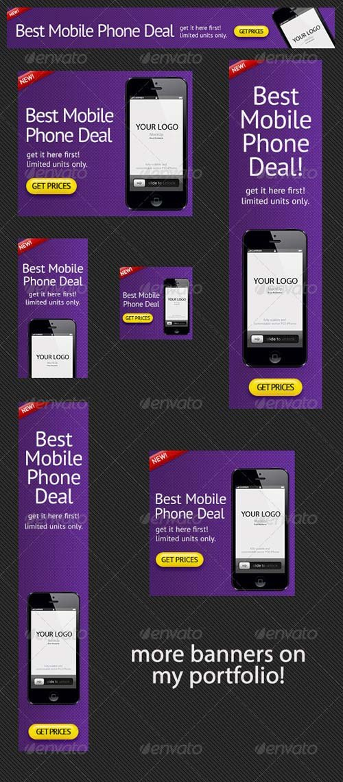 GraphicRiver Phone Deals Banner Ad PSD Template