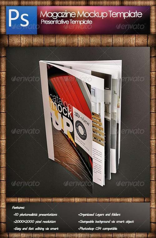 GraphicRiver Magazine Mockup Template