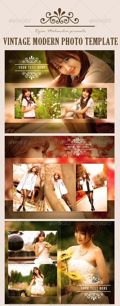 GraphicRiver Vintage Modern Photo Template