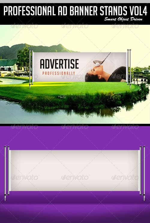 GraphicRiver Ad Banner Stand Mockup vol 4