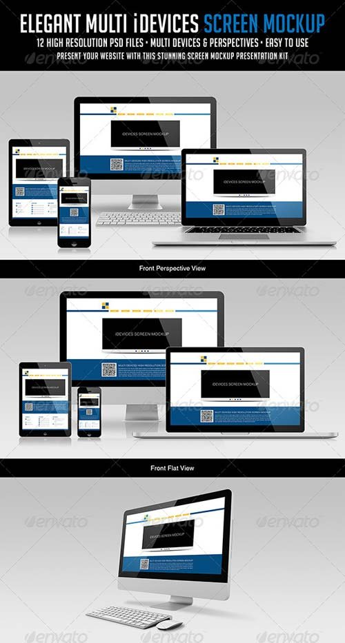 GraphicRiver Elegant Multi iDevices Screen Mockup