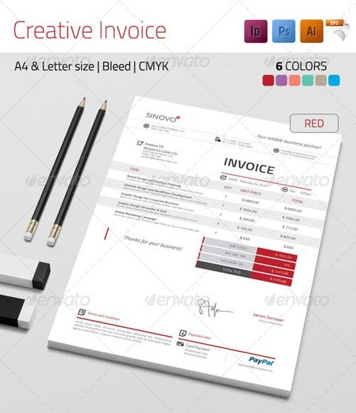 GraphicRiver Creative Invoice
