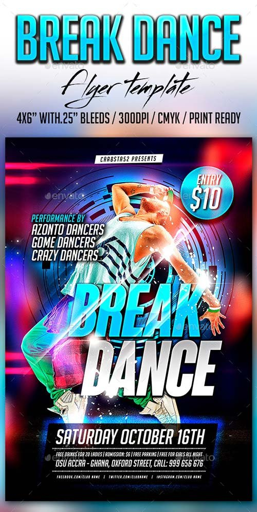 GraphicRiver Break Dance Flyer Template