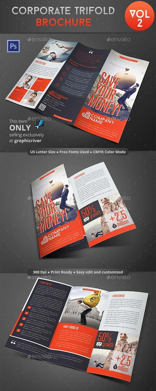GraphicRiver Corporate Trifold Brochure Vol 2