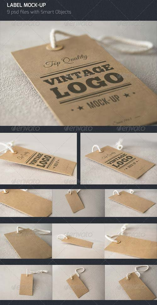 GraphicRiver Vintage Label - Logo Mock Up
