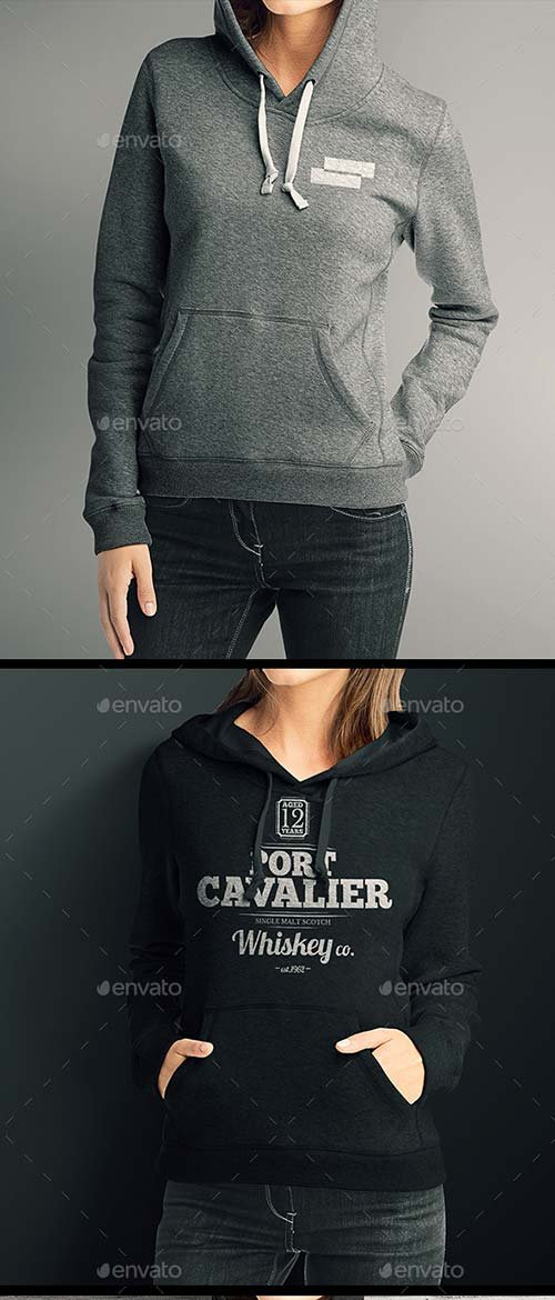 GraphicRiver Women Hoodie Mock up