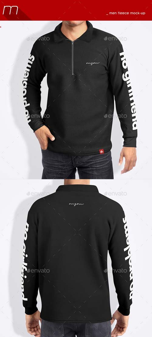 GraphicRiver Men Fleece Mock-Up