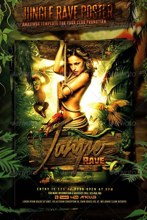 GraphicRiver Jungle Rave Poster