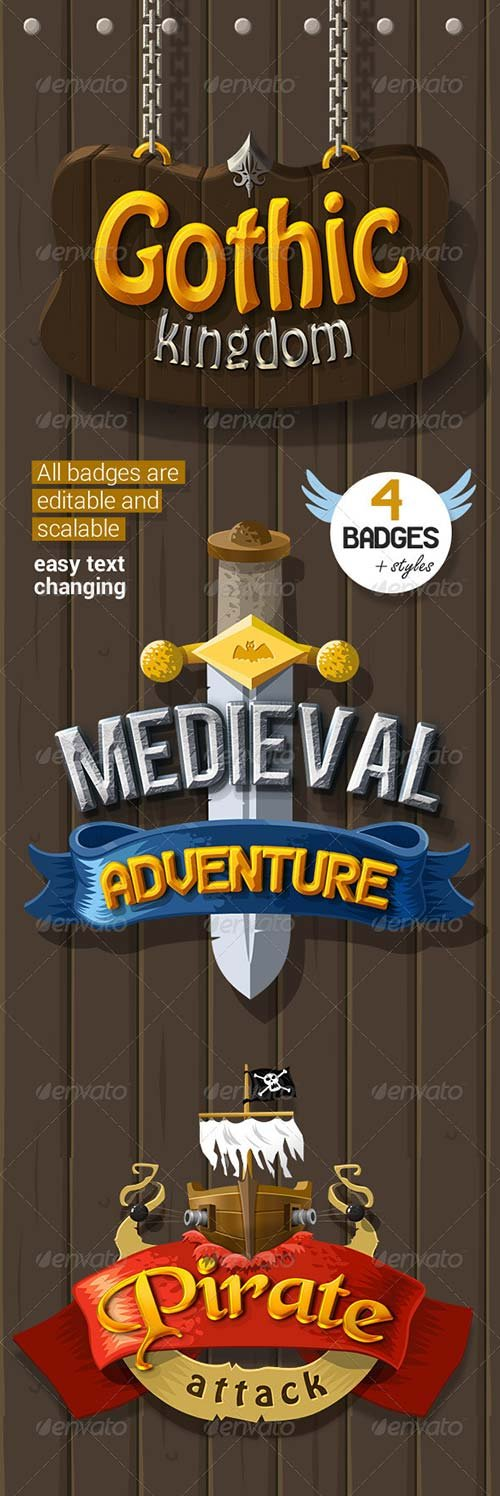 GraphicRiver Medieval Badges + Styles