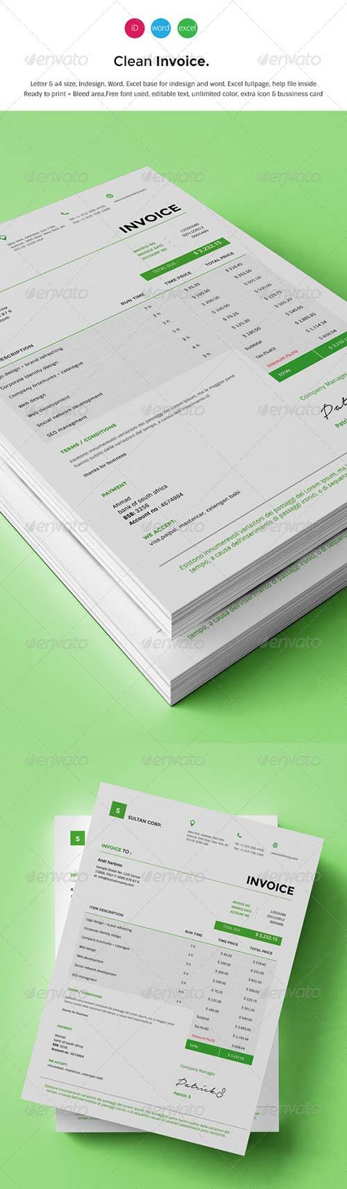 GraphicRiver Clean Invoice