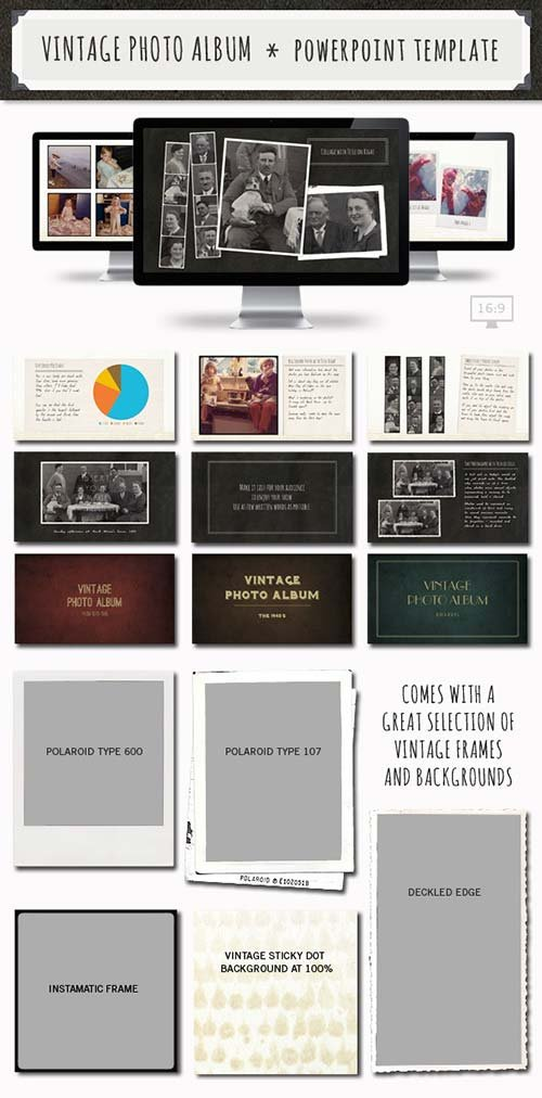 GraphicRiver Vintage Photo Album Powerpoint Template