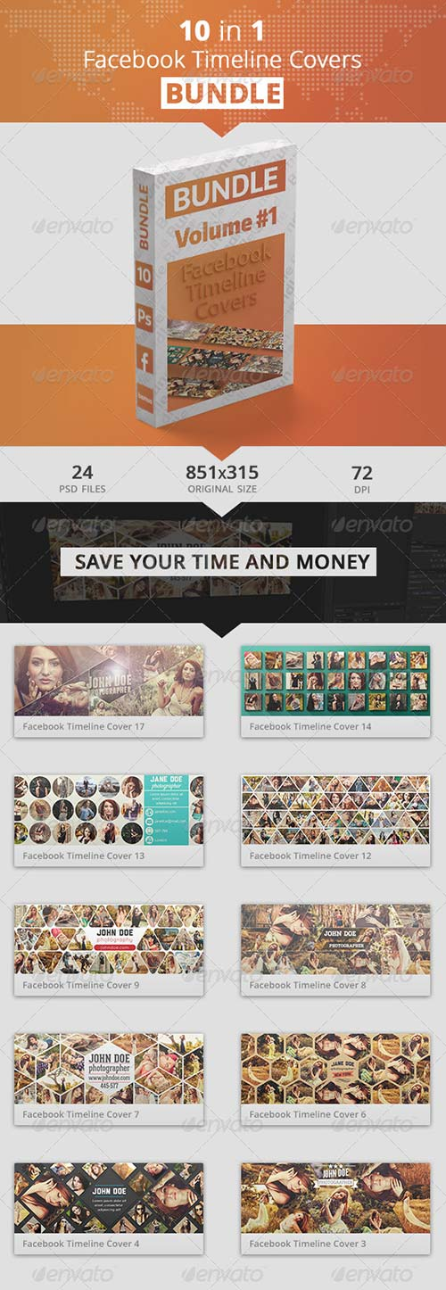 GraphicRiver Facebook Timeline Covers Bundle 1