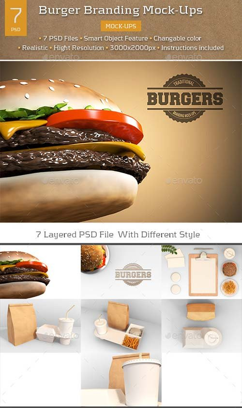 GraphicRiver Burger Branding Mock-Ups