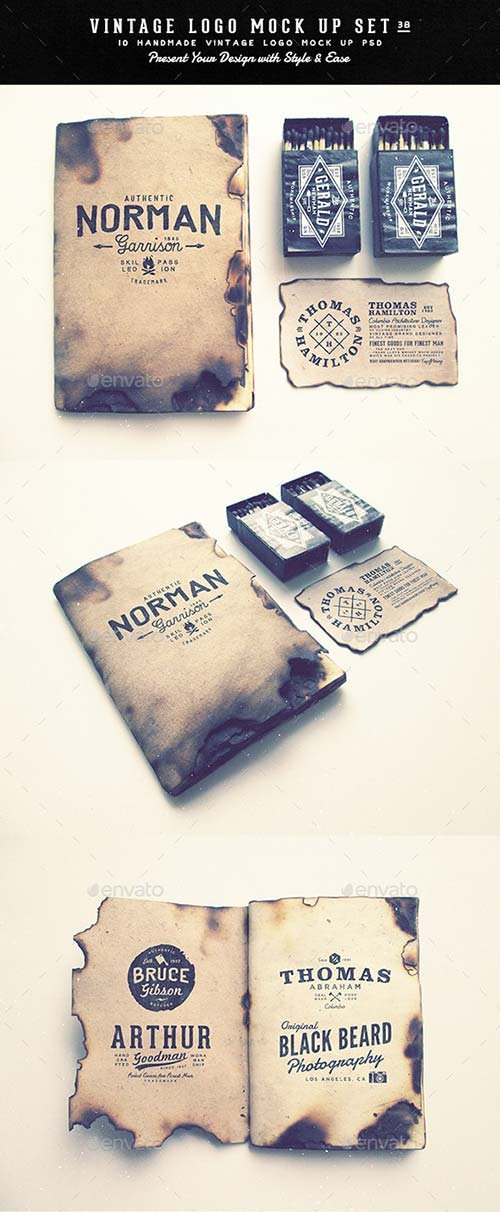 GraphicRiver Vintage Logo Mock Up Set Volume 3B